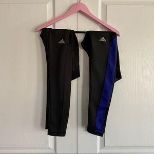 Set of TWO Adidas leggings, XS, techfit material